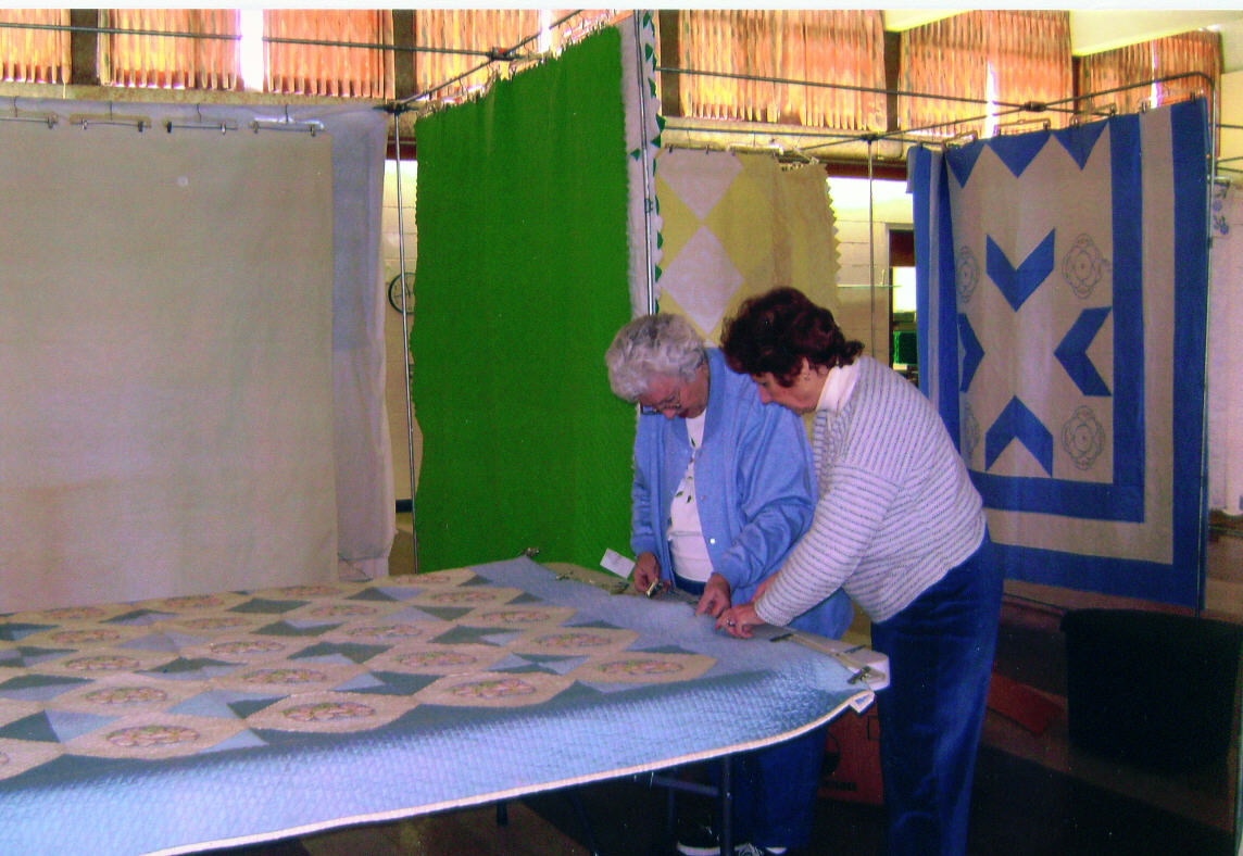 setting up quilts